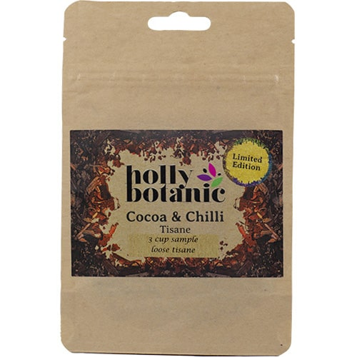 cocoa & chilli limited edition herbal tisane for winter indulgence 3 cup sample pack