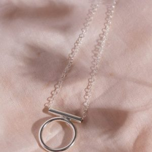 Recycled silver open circle necklace - il fullxfull.2172732960 as5s 500x500