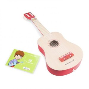 New Classic Toys - Guitar de Luxe - Naturel/Red - k 10300 500x500