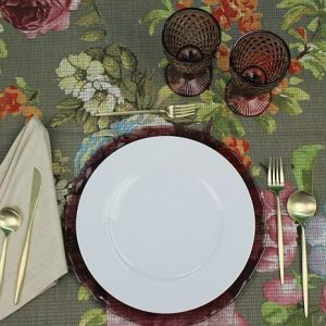 Flowers Tapestry 1 Tablecloth + 4 napkins