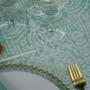 Dubai Turquoise 1 Tablecloth + 4 napkins