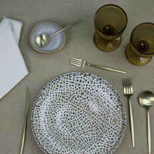 Roma Beige 1 Tablecloth + 4 napkins