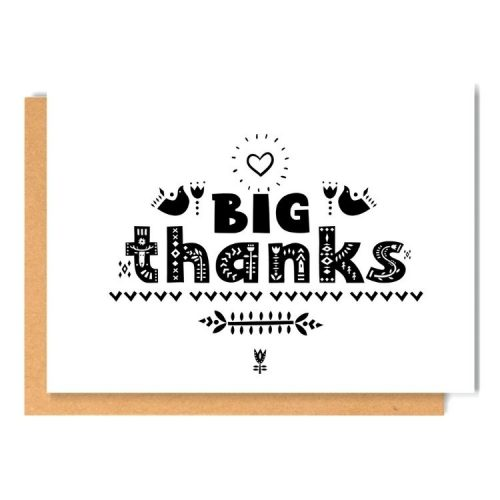 BIG THANKS greeting card