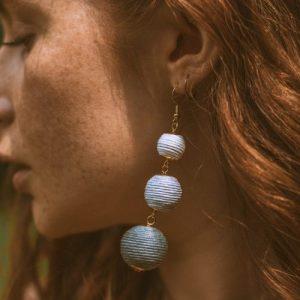 Summer Drop Earrings in Midnight Mix