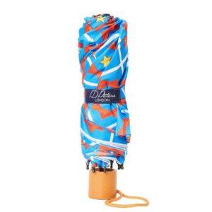 Windproof Umbrella in Blue Coco Folding Umbrella