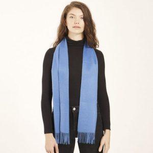 Cornflower Blue Cashmere Scarf