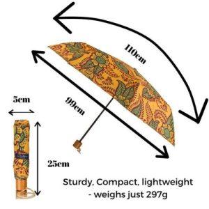 Windproof Umbrella in Orange Henna – Folding
