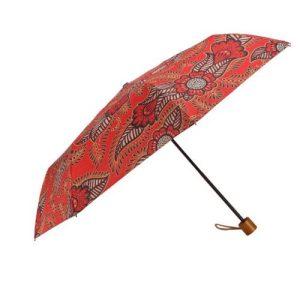 Ladies Windproof Umbrella in Red Henna – Folding