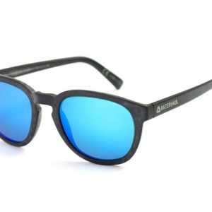 Recycled Fishing Net Sunglasses | Crantock | Blue Mirror polarised mineral glass lens