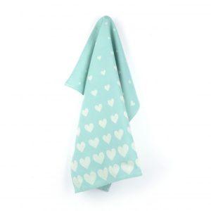 Tea Towel Hearts Green - 4242 2 scaled 1 500x500