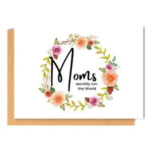 MOMS greeting card