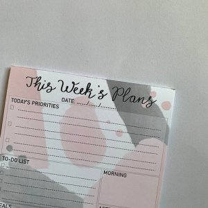 Grey and Pink A5 Daily Planner