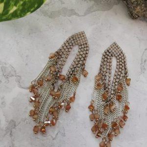 Gold Tone Multi Stone Cubic Zirconia Drop Earrings - 7 500x500