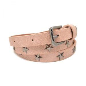 Star Studded Slim Belt in Pink