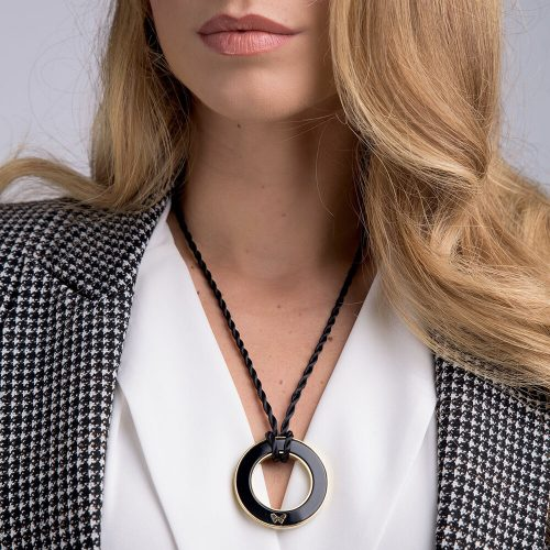 Pendant/Scarf Ring – Handmade in Natural Onyx