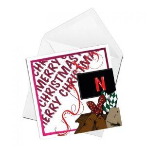 Christmas Chillaxing Christmas Card
