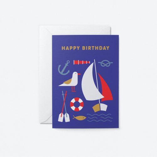 Birthday Sailor Greeting Card