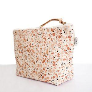 Cotton Canvas Cosmetic / Make-up Bag - Terrazzo Terracotta - Cosmetic Bag Terrazzo Terracotta.1 1024x1024@2x 500x500