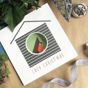 Christmas Birdhouse Card - Cosy Christmas - CosyChristmas 1024x1024@2x 500x500