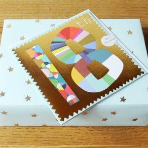 GD18 gold foiled number eighteen card