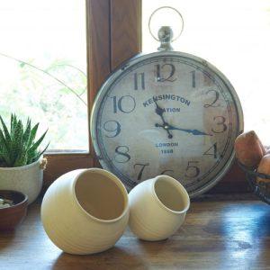 Handmade Ceramic Salt Cellar - compact size (Copy) - HOUSE 537Salt Cellar both lifestyle1 copy 500x500