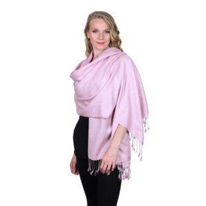 Lilac Pashmina Stole 70% Cashmere 30% Silk