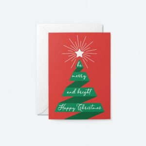 Be Merry and Bright Happy Christmas Greeting Card