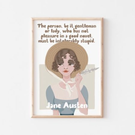 Jane Austen Wall Art by Another Wild Story
