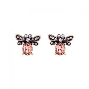 Bee Earrings in Peach - LE063P 500x500