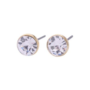 Solitaire Earrings in Gold - LE247G