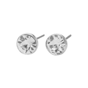 Solitaire Earrings in Silver - LE247S
