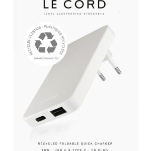 Fog ReCharger · Recycled Wall Charger with EU plug