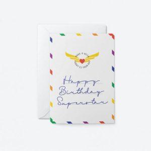 Happy Birthday Superstar Greeting Card