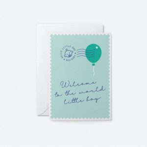 Welcome Little Boy Greeting Card