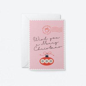 Christmas Greeting Card – Wish You A Merry Christmas