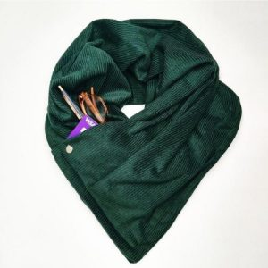 Corduroy Pocket Scarf Forest Green – Pack of 3