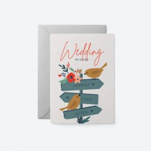 Wedding – Love birds Greeting Card