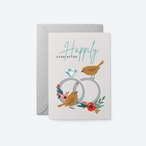 Happily Ever After – Birds Greeting Card