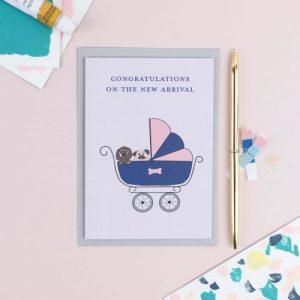 New Fur Baby Dog Card