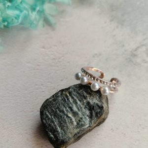 Rose Gold Tone Mother of Pearl Adjustable Ring - acacw 500x500