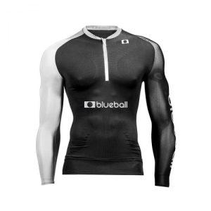 Running Black/Grey Tshirt Long Sleeve - c3d0001 greym 2 500x500