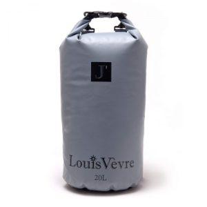 Cabourg 20 liter tube bag grey black logo