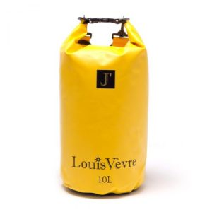Cabourg 10 liter tube bag yellow black logo