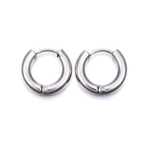 Solar Silver Earhugger Hoop Earrings