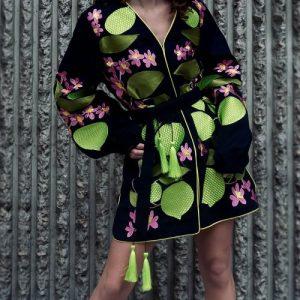 Dylan embroidered kimono