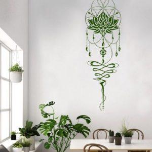 Lotus Flower Of Life Big Mandala Wall Stencil 205x65cm