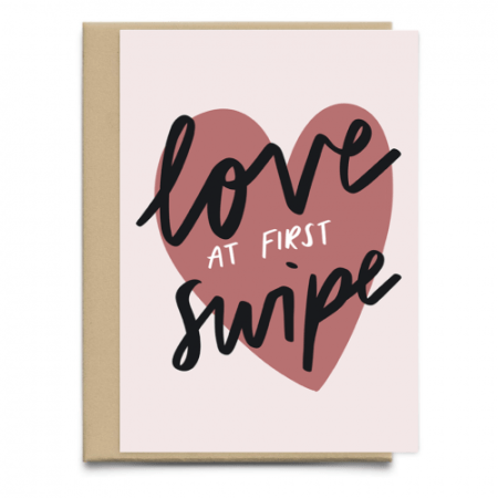 Love At First Swipe Funny Valentine's Day Card