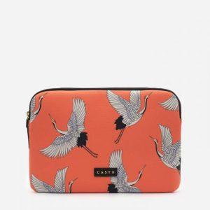 Coral Cranes iPad Sleeve