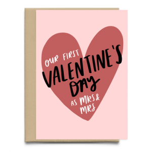 Our First Valentine's Day As Mrs and Mrs Card | Valentine's Card For Wife | A6 Love Greeting Card | First Valentine's Day Married | Lesbian