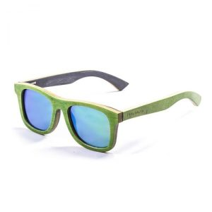Trestles skate wood green & green sunglasses